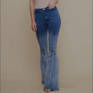 Saints & Hearts Ombre Denim Bell Bottoms Jeans